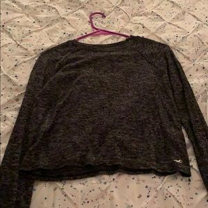 Hollister black and grey long sleeve shirt